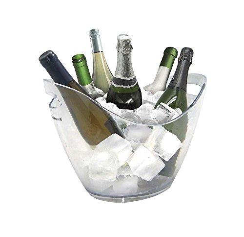 Vinbouquet Vin Bouquet FIE 029 Seau à glaçons, 6, idéal pour Refroidir Vos Bouteilles en Couleur Claire, Plastic, Transparent, 6 BOTELLAS