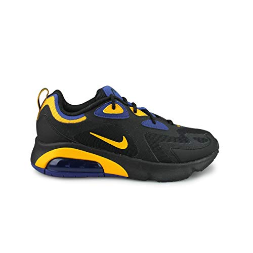 Nike Air MAX 200, Zapatillas de Running Hombre, Black/University Gold/Deep Royal Blue, 41 EU