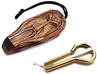 Jew's Harp by P.Potkin in wooden case Shaman - mouth musical instrument (jaw harp) Beautiful sound Excellent quality (jaw harp, snoopy harp, dan moi)