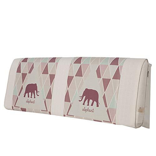 Zfggd Cojín Cabecera Bolsa Blanda/Lino algodón Volver Almohadilla de impresión y Lumbar teñido Lavable (Color : E, Size : 200 * 20 * 60cm)
