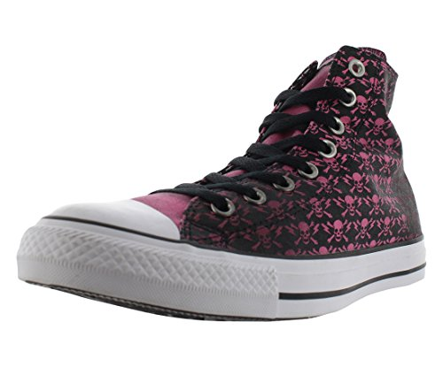 Converse Chuck Taylor All Star High The Clash Kollektion Limited Edition 'Skulls, Bones and Flashes' Black/Chateau Rose/White 155073C 10 Mens 12 Womens 10 UK 44 EU 28.5 cm