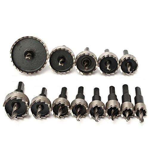 Drill Bit 13pcs Hole Saw Set Durable HSS Stainless Steel Hole Saw Cutter for Metal Wood Alloy Cutting Tool Drill bit Cutting Set