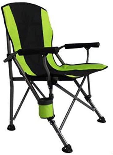 Lanrui Soporte de camping silla plegable con soporte para botella de apoyabrazos silla de playa para pesca, senderismo, jardín, barbacoa, playa, viajes