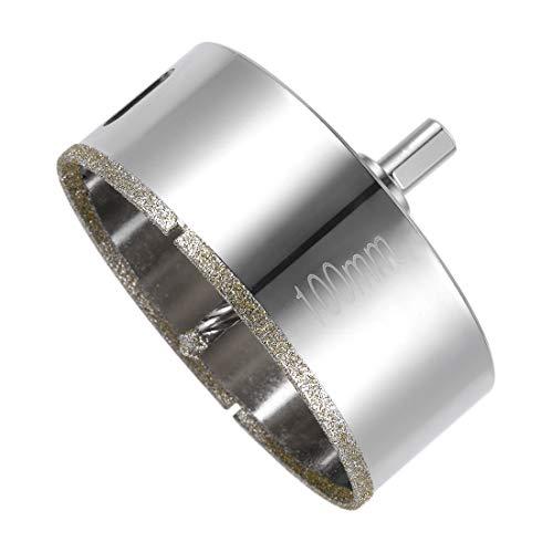 Sourcingmap - Broca de diamante para sierra de corona de cristal con punta central para cristal, cerámica, porcelana y baldosas
