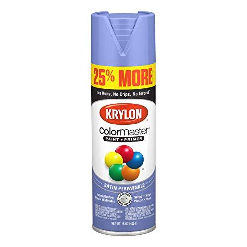Krylon K03466007 ColorMaster Primer Bonus, Satin, Periwinkle, 15 oz. Spray Paint, 25%