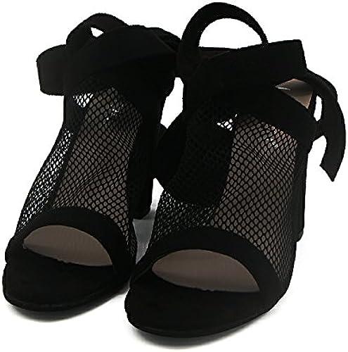 JUWOJIA Sandales Femmes Chaussures Dames Mesh Sangles D'Cross-Tied Wedges Chaussures Femme