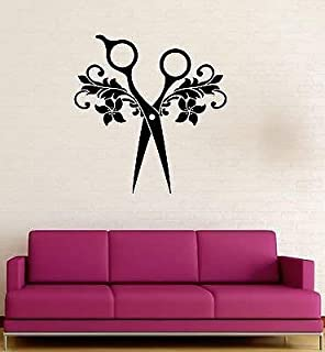 V-studios Scissors Beauty Salon Hair Barbershop Wall Decal Vinyl Stickers VS112