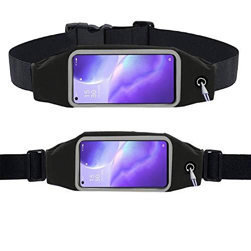 KP TECHNOLOGY Oppo Find X3 Lite - Cintura para hacer ejercicio, correr, correr, ciclismo, gimnasio, deporte y más, para correr, para teléfono móvil, para Oppo Find X3 Lite (Negro)