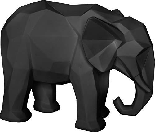 Present Time - Statue éléphant Noir Origami