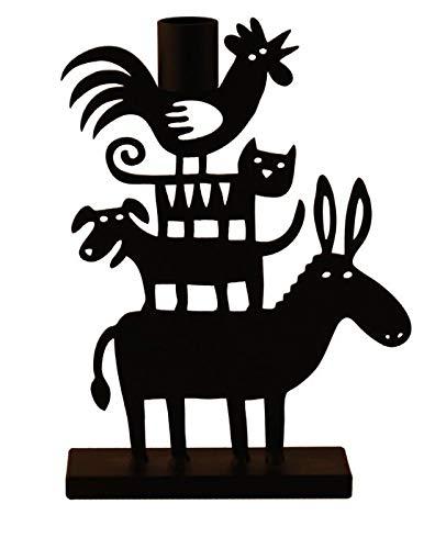 Bengt & Lotta Donkey Pyramid schwarz Kerzenständer Höhe 13