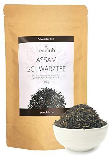 Assam Schwarzer Tee Lose 100g, Second Flush Schwarztee, Ostfriesentee Kräftig Würzig Malzig, TeaClub