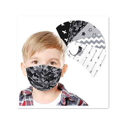 Jasinto Mundschutz für Kinder Junge Mädchen, Anti-Staub Bandana Halstuch Nasenschutz Schlauchschal Multifunktionstuch, Waschbar & Wiederverwendbar Nasen und Lippen Schutz, Weihnachten Cartoon Drucken