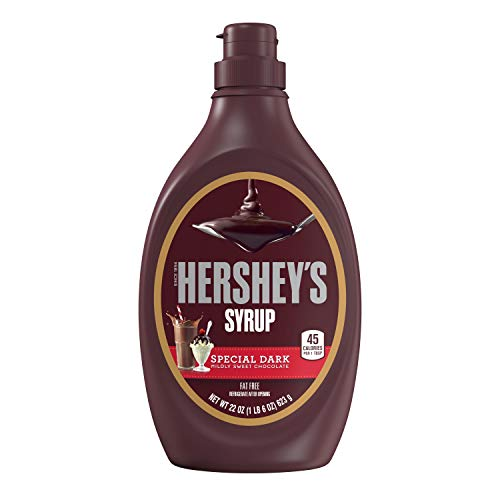 HERSHEY'S Chocolate Syrup, Special Dark, 22 Ounce