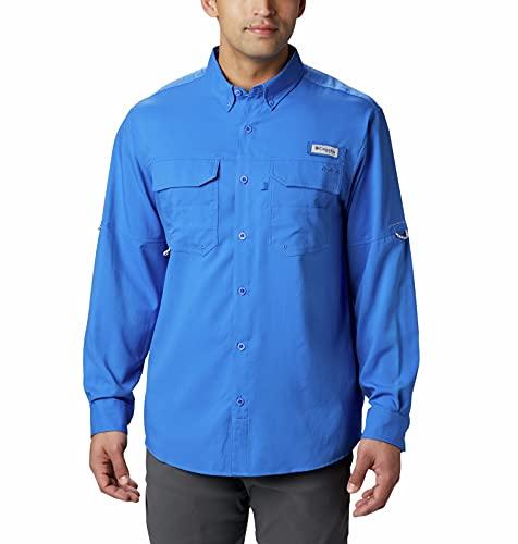 Columbia Men's Standard Blood and Guts III Long Sleeve Woven Shirt, Vivid Blue, Medium