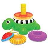 The Learning Journey: Pull Along Stacking Turtle - Pull Along Toy for Toddlers Ages 1-3 Years Old - Award Winning Toys