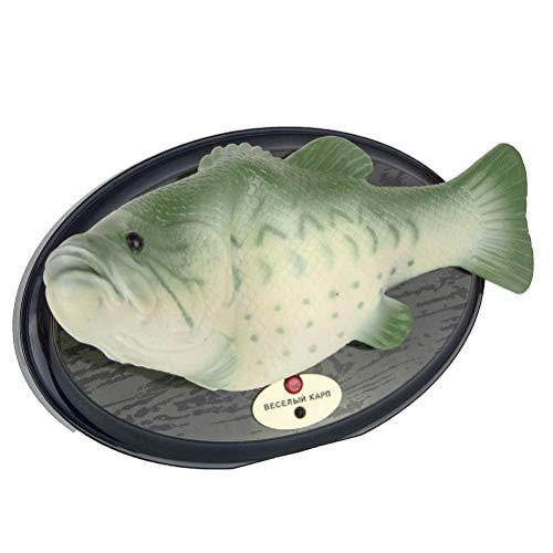 Ysoom Robo Fisch, Singender tanzende Fisch mit Bewegung, Billy Bass, Circa 28 cm elektronischen Spielzeug Lebensechte Bewegungen