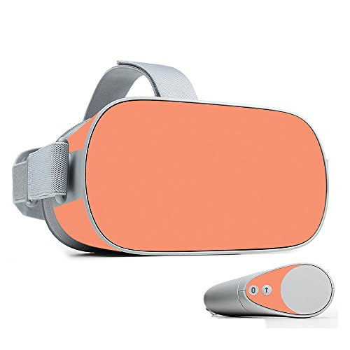 Sale!! MightySkins Skin Compatible with Oculus Go Mobile VR - Solid Peach | Protective, Durable, and...
