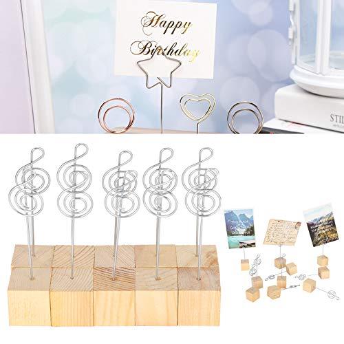 Clip para notas, hermoso soporte para fotos, para el hogar, decoración del hogar, colección de artesanías