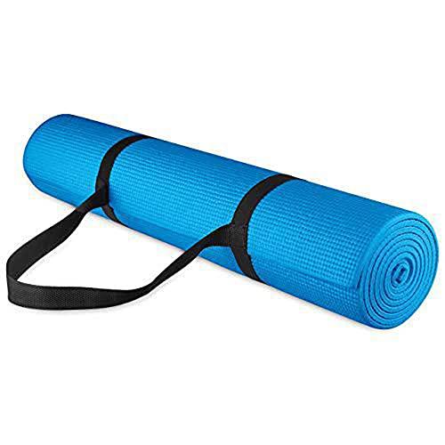 Yumhouse Ejercicio de Fitness Pilates,Estera de Yoga de PVC de Goma Resistente al Desgaste Fitness Ejercicio Antideslizante-Blue_173 * 61 * 0.5cm,Gimnasia