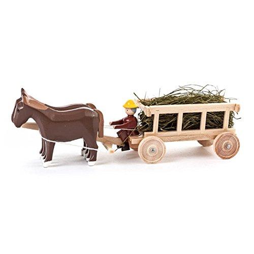 Dregeno Erzgebirge - Miniatur-Pferde mit Leiterwagen und Heu