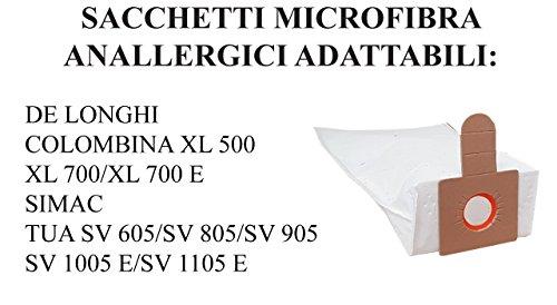 D301MF SACCHI FILTRO SACCHETTI DE LONGHI COLOMBINA XL 500 XL 700 SIMAC TUA SV 10pz