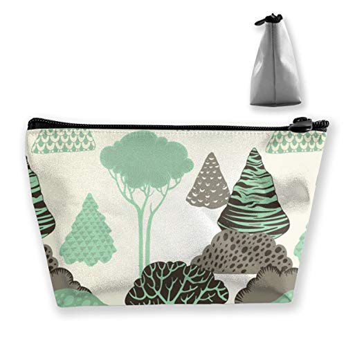Multi-Functional Print Trapezoidal Storage Bag for Female Forest Pattern