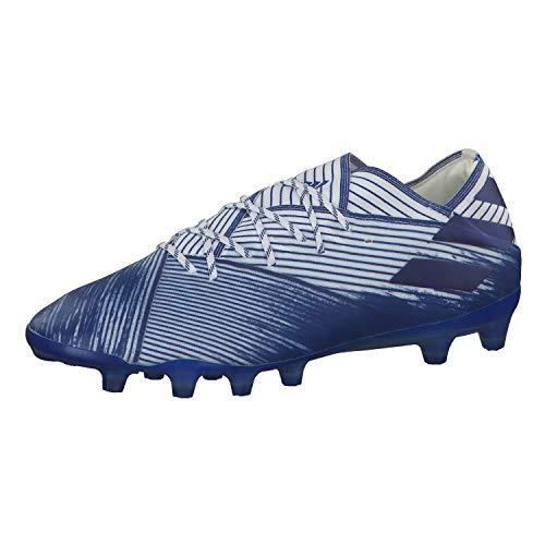 Adidas Nemeziz 19.1 AG, Zapatillas Deportivas Fútbol Hombre, Azul FTWR White Team Royal Blue, 43 1/3 EU