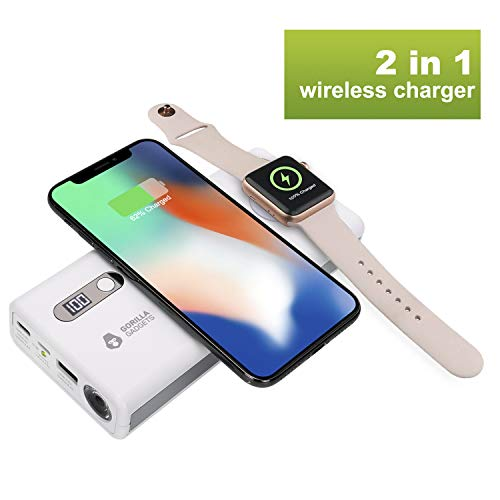 Gorilla Gadgets 20000mah Fast Charger Power Bank Compatible with iPhones and Apple Watches, 3A Type-C Lighning Input Large Capacity External Battery Pack