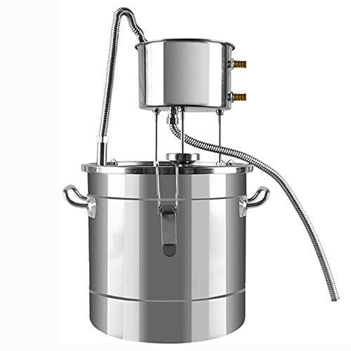 CARACHOME 12 / 22L Destillieranlage, Alkohol zu Hause Mondschein Ethanol Spirituosen Edelstahlkessel Wasser Whisky Distiller Eingebautes Thermometer,22L