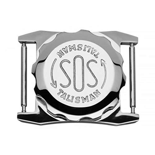 SOS Talisman für Herren-Uhrenarmband in Edelstahl, Norfallkapsel für wichtige medizinische Informationen