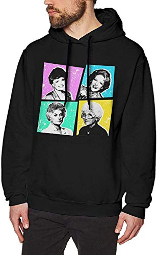 Men's Hooded Sweatshirt Golden Warhol Girls Fashion Hoodie Pullover Black Navy