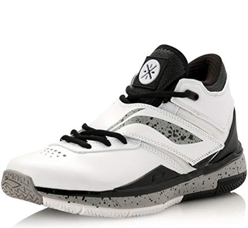 Li Ning - Scarpe da basket All-In-Team, colore: Bianco, (nero, grigio, bianco.), 47 2/3 EU