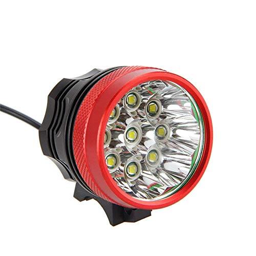 fivefire 18000LM 9x CREE XM-L T6impermeabile bicicletta luce testa, Fanale, lampade, lampada frontale, anteriore faro, 3Modes con caricabatterie per 6x 18650