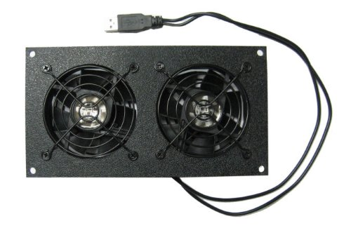 coolerguys Dual 80mm USB Powered Cabinet Cooler for Cabinet & Home Theaters