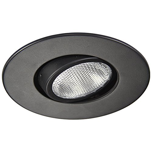 Eco Lighting NY HV6004BK 6-Inch Line Voltage Trim Recessed Light fit Halo/Juno, Adjustable Eyeball Trim, All Black