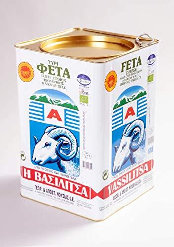 Vassilitsa BIO Feta BIO Schafkäse - 1x 14kg - BIO Fetakäse BIO griechischer Feta Schafskäse in Salzlake Sheep Cheese 43% Fett i.Tr. aus Griechenland 70% Schaf 30% Ziege Kanister Biologisch