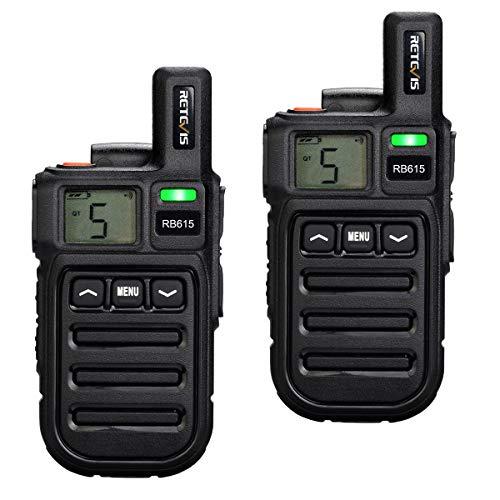 Retevis RB615 Mini Walkie Talkie 93g Ricetrasmettitore Vibrazione Clone Funzione Walkie-Talkie VOX...