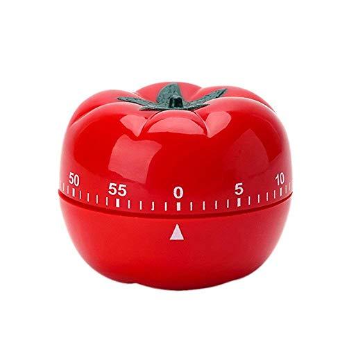 Aseok Küchen-Zeituhr, manuell, geformter mechanischer rotierender Wecker, 60 Minuten, zum Kochen tomate