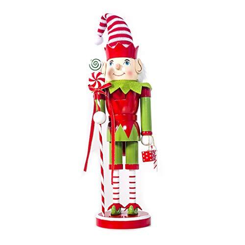 ShefiiChristma Gifts - Marioneta de madera vintage de muñeco de nieve