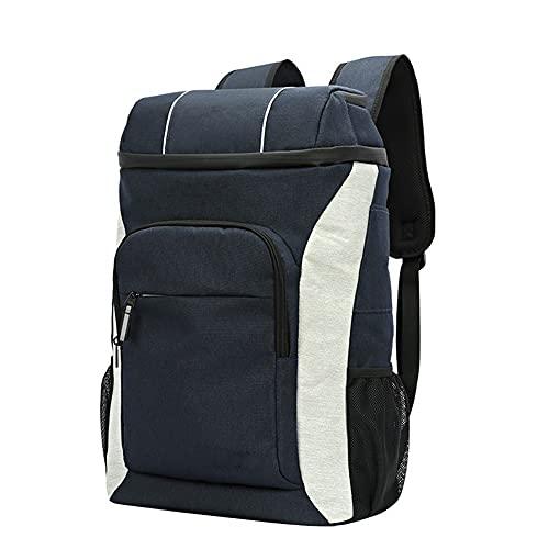 Nenka Mochila nevera de 30 L con sacacorchos, bolsa isotérmica grande e impermeable, bolsa aislante, bolsa de pícnic, para camping, senderismo, picnic (azul)