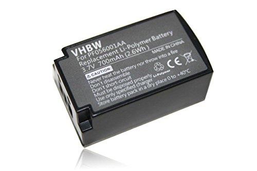 vhbw batería reemplaza Parrot PF056001AA para Auriculares inalámbricos Cascos (700mAh, 3,7V, polímero de Litio)