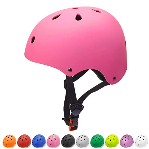 Toddler Helmet 2-4 Years Old Girls Kids Bike Helmet Child Helmet 5-8 Years CPSC Certified Impact Resistance Ventilation Adjustable Toddler Bike Helmets for Cycling Bicycle Scooter Helmet (Pink, Small)