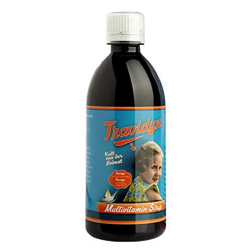 TRAVIDYN - 500 ml Ayurvital Multivitaminsirup | Vitaminsaft für Kinder ab einem Jahr und Erwachsene im 1er Pack