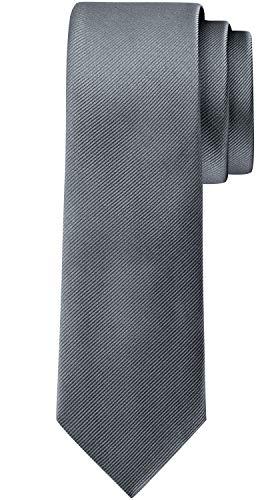 BomGuard 6cm herren-krawatte matt dunkel-grau anthrazit schmale weihnachten seide damen männer frauen