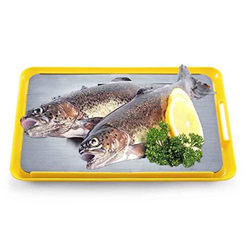 Platte Auftauen AGYH Schnell Abtauwanne, Food-Grade-Aluminiumlegierung Abtauwanne, Verwendete for Natürliches Auftauen Gefrorenen Huhn, Steak Und Fisch