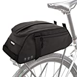 GeeMart Bike Trunk Bag, Bike Pannier Reflective Rack Bag Waterproof Bicycle Rear Seat Pannier Cargo Storage Cycling Carrier Chest Bag with 8L Capacity Multi-Pocket for Commuter Outdoor Traveling