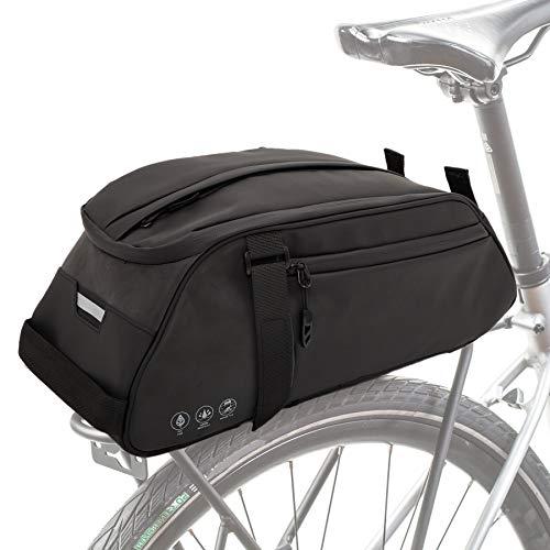 GeeMart Borsa Portapacchi Bici, Borsa Posteriore da Ciclismo con Striscia Riflettente & Grande capacità 8L Borsa per riporre Impermeabile per Famiglia Escursionismo Campeggio Pendolari