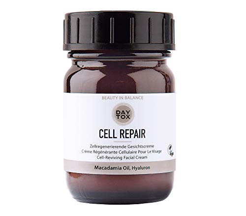 DAYTOX - Cell Repair - Zellregenerierende Anti-Age Gesichtscreme mit Hyaluron und Macadamia Oil - Vegan, Ohne Silikone, Made in Germany - 50 ml