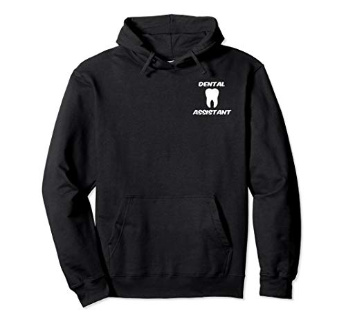 Dental Assistant Tooth Logo Graphic Clipart Pullover Hoodie