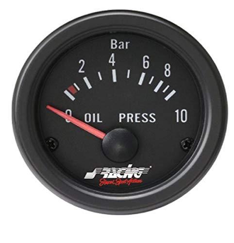 Simoni Racing OP/B Indicador eléctrico de Presión de aceite, fondo negro